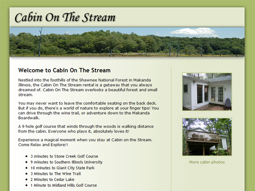 Cabin On The Stream